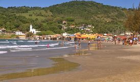The small fishing port of Garopaba royalty free stock images