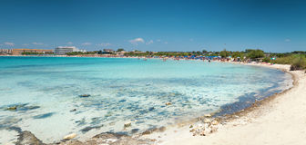 Beautiful beach on the southern coast of Italy Stock Photography