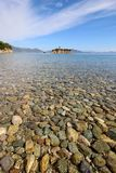 Beautiful beach with stones Royalty Free Stock Photography