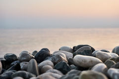 The beautiful beach of stones. Macro Royalty Free Stock Images