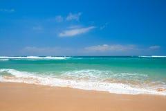 Beautiful beach in summer stock photos