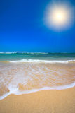 Beautiful beach in summer Stock Images