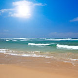 Beautiful beach in summer Royalty Free Stock Images