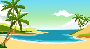 Beautiful beach during the summer Stock Photo