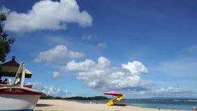 Beautiful beach on a sunny day: Nusa Dua Bali. 60fps stock video