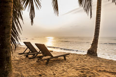 Beautiful beach at sunrise in paradise. Beautiful beach at sunriset in Ghana, West Africa Stock Image