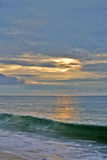 Beautiful Beach Sunrise With Pastel Skies Stock Image