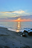 Beautiful Beach Sunrise on a Summer Morning at Rock Jetty Royalty Free Stock Photo