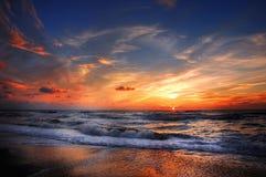 Beautiful Beach Sunset  Stock Photo