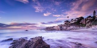 Beautiful beach sunset in California Stock Photo