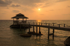 Beautiful beach at sunset in Thailand Stock Photos
