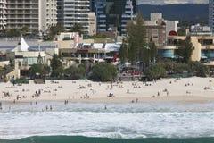 Beautiful beach in Surfers Paradise, Australia Stock Photography