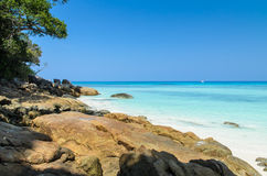 Beautiful beach on Tachai island in Southern of Thailand Royalty Free Stock Photo