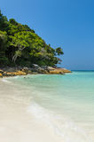 Beautiful beach on Tachai island in Southern of Thailand Royalty Free Stock Image
