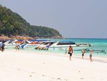 Beautiful beach at Tachai island, Thailand Royalty Free Stock Photo