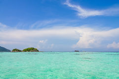 Beautiful beach in Thailand. Green sea with blue sky Beautiful beach in Thailand Stock Photography