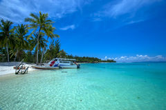 Beautiful beach. Took this photo with beautiful clear water an blue sky Royalty Free Stock Photos