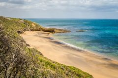 Beautiful beach in Torquay in the summer, Australia stock images