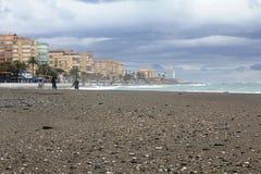 A beautiful beach in Torrox Costa, Spain Stock Image