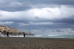 A beautiful beach in Torrox Costa, Spain Stock Photo