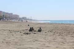 A beautiful beach in Torrox Costa, Spain Royalty Free Stock Image