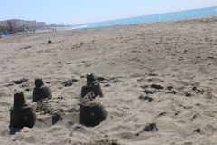 A beautiful beach in Torrox Costa, Spain Royalty Free Stock Photography