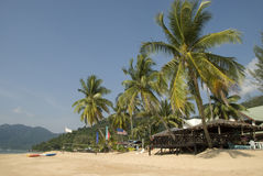 Beautiful beach on tropical island Royalty Free Stock Images