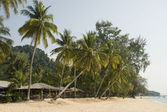 Beautiful beach on tropical island Stock Photo