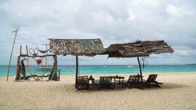 Beautiful beach on tropical island. stock video