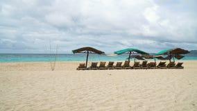 Beautiful beach on tropical island. stock video footage