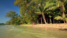 Beautiful beach of a tropical island. Koh Chang. stock video