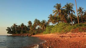Beautiful beach of a tropical island. Koh Chang. stock footage