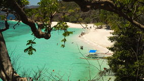 Beautiful beach on a tropical island Malcapuya. Philippines. Tropical beach on the island Malcapuya, Palawan, Philippines. Beautiful tropical island with sand stock video footage