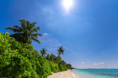 Beautiful beach and tropical sea Royalty Free Stock Photo