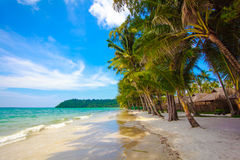 Beautiful beach and tropical sea. Royalty Free Stock Images