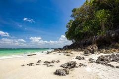 Beautiful beach on Tub Island Royalty Free Stock Photography