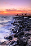 Beautiful Beach at Twilight royalty free stock photos