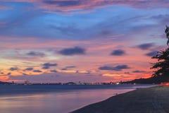 Beautiful beach at twilight Royalty Free Stock Photo