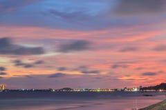 Beautiful beach at twilight Stock Photos