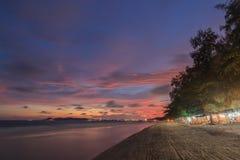 Beautiful beach at twilight Stock Image
