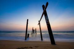 Beautiful beach at twilight time Stock Images