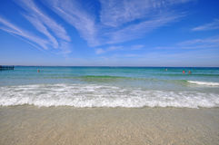 Beautiful beach under the sun Royalty Free Stock Photography