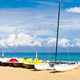 The beautiful beach of Varadero in Cuba Royalty Free Stock Images