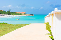 The beautiful beach of Varadero in Cuba Stock Photo