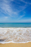 Beautiful beach, Vertical. The beautiful beach with blue sky , Vertical royalty free stock images