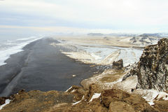 The beautiful beach of Vic in Iceland Stock Image