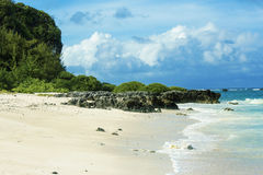 The Beautiful Beach View. A picture of beautiful ocean view at Tarague Beach stock image