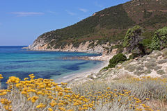A beautiful beach in Villasimius, Sardinia Stock Photo