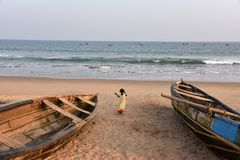 Beautiful Beach At Vishakhpatnam stock photography