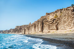 Beautiful beach with volcanic mountains Stock Image